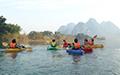 kayaking in China