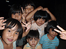 Children posing for the camera
