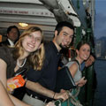 Students in an adventure cruise