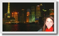 Student exploring China at night