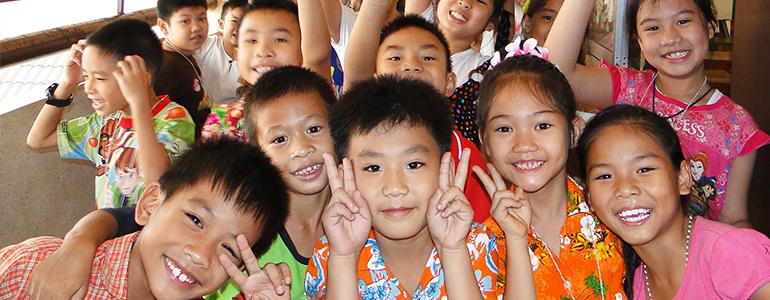 Kids in Chiangmai school