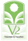 V2 Volunteer & Vacation Logo