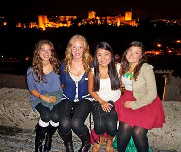 Darcy and Her Friends at the Alhambra in Granada.