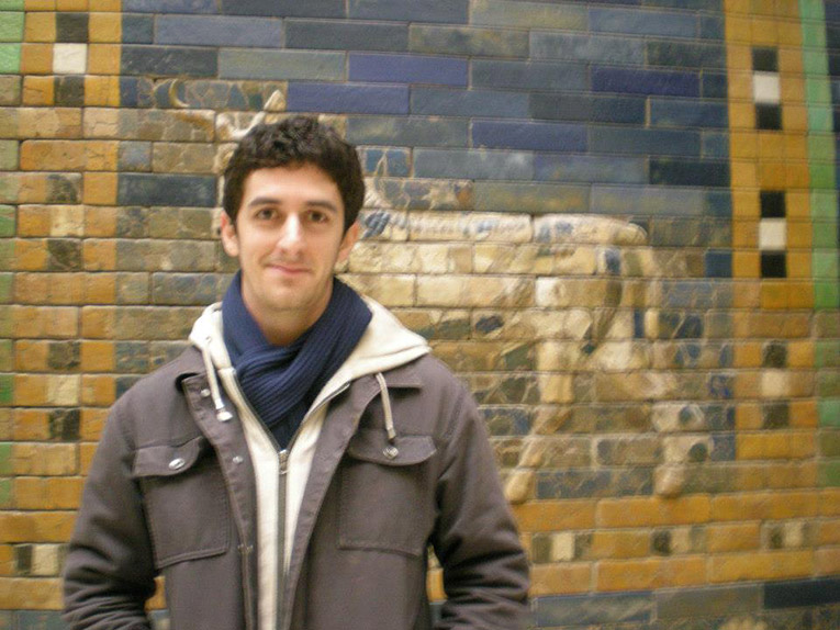 Study abroad student at Ishtar Gate in Berlin