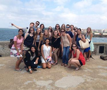 Having a blast with SPI students in Biarritz, France