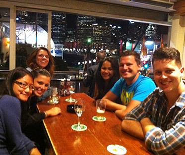 Anita meeting with participants in both AAGs WEA and Business and Events program at a funky local bar in Pyrmont.