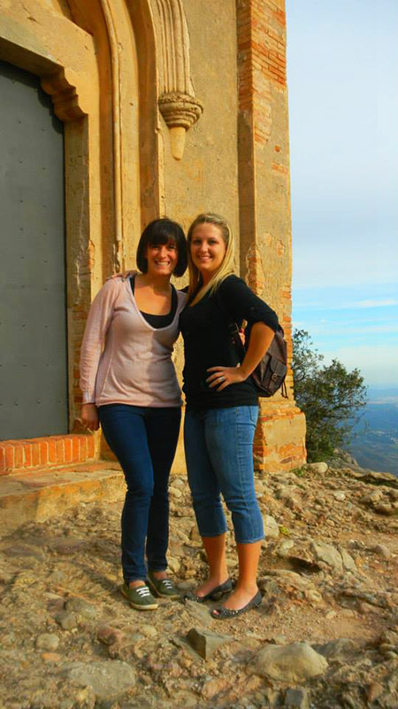 Barcelona SAE 2013 interns at Montserrat in Spain.