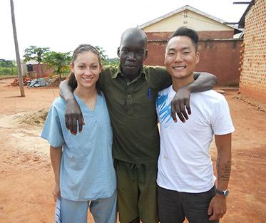 Kelsey (left) in Uganda