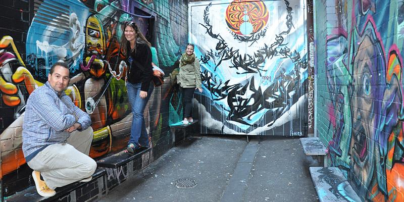 Friends in Melbourne, Australia.