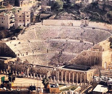 The Roman Amphitheatre in downtown Amman. Photo by Olivia Fisher