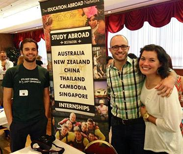 The Education Abroad Network Alumni and Staff at the University of Dayton Study Abroad Fair