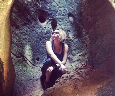 Cave explorations during a trip abroad