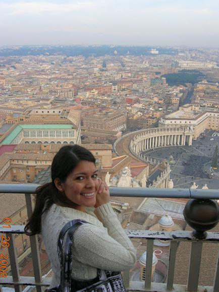 View of Rome from the cupola of St. Peters Basilica, Vatican City