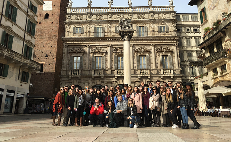 USAC study abroad group in Italy