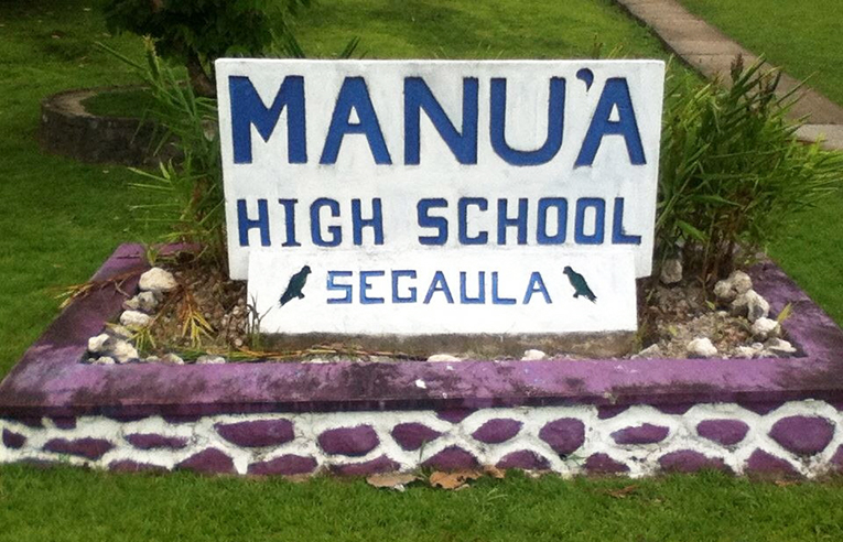 Manua High School in American Samoa