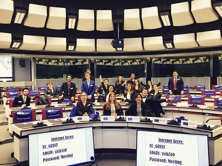 Students at the European Commission in Brussels, Belgium