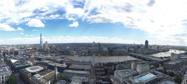 A panorama of South London taken from the top of St. Paul's Cathedral