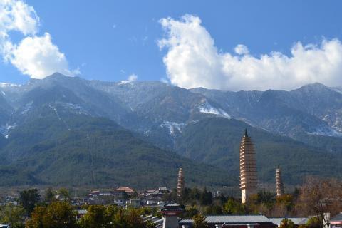The Three Pagodas of Dali, Yunnan, China
