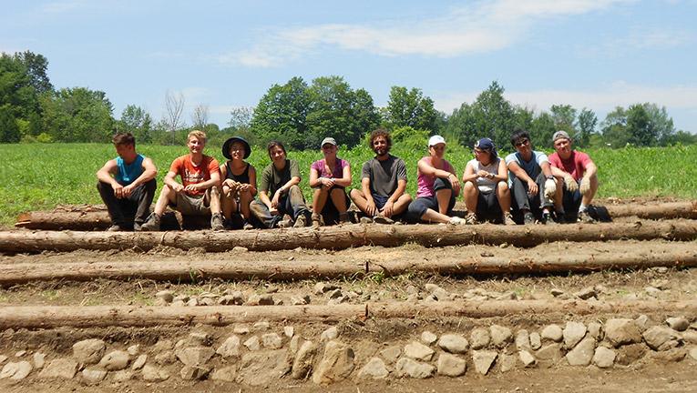 International volunteers at Willowell Foundation in Monkton, Vermont.