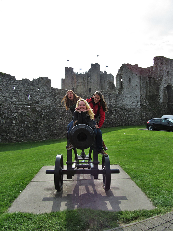 Canon on the grounds of Trim Castle in County Meath, Ireland