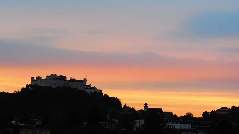 Sunset in Salzburg, Austria