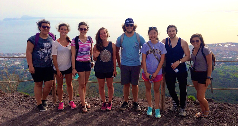 Climbing Mount Vesuvius in Italy