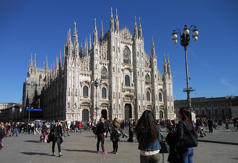 The Duomo di Milano in Italy