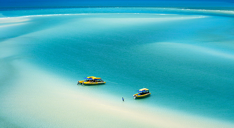 Overlooking White Haven beach in the Whitsundays