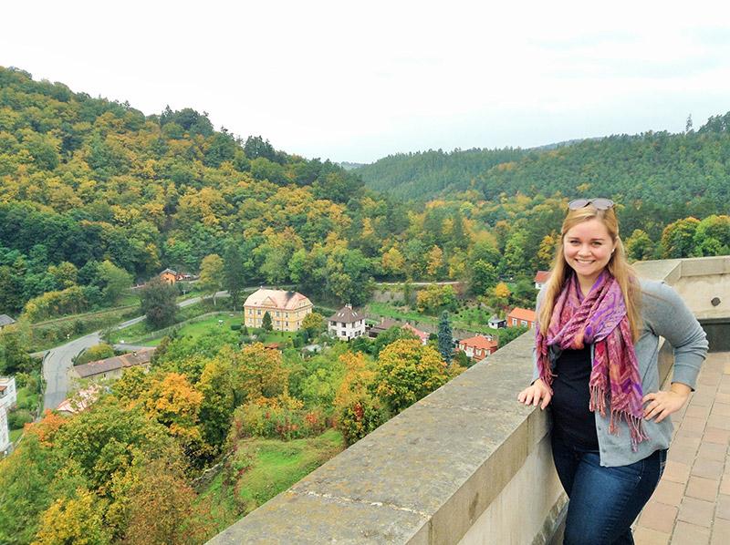 A view from Křivoklát Castle in the Czech Republic