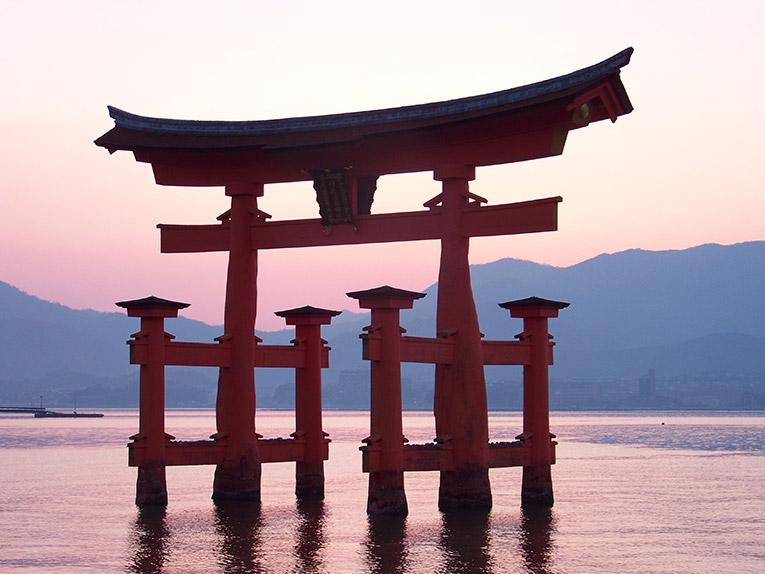 Shinto shrine in Miyajima, Japan
