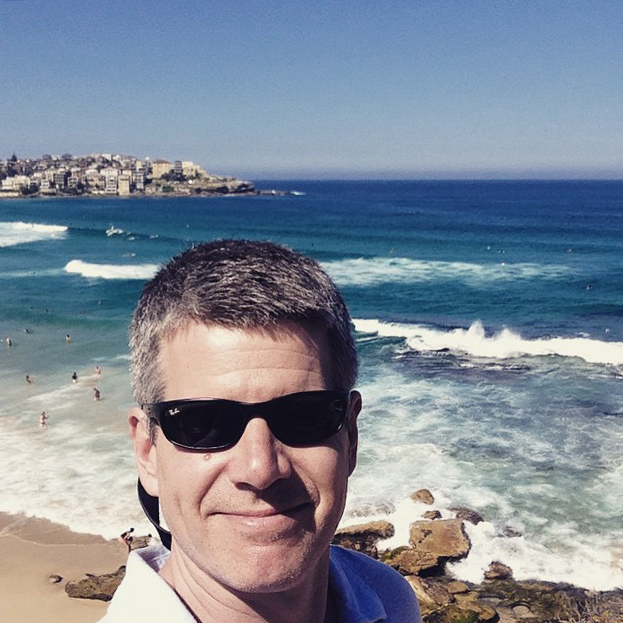 Man at Bondi Beach in Australia
