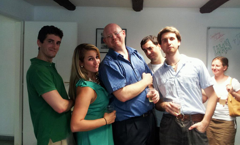 TEFL Worldwide Prague Staff and Trainees in between TEFL classes