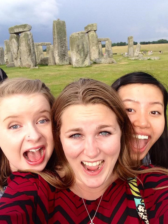 Visiting Stonehenge in England