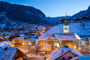 Morzine in the wintertime