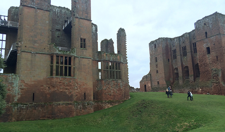 The ruins of Kenilworth Castle in Warwickshire, England