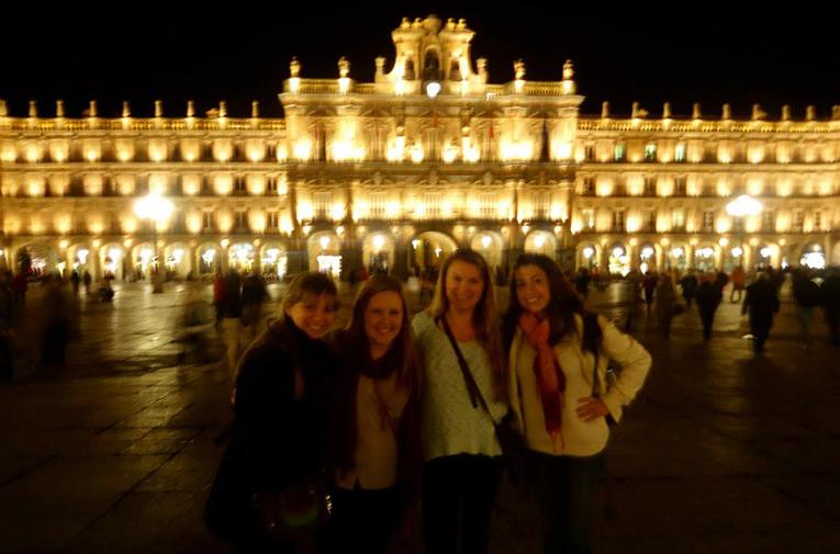 La Plaza Mayor in Salamanca, Spain