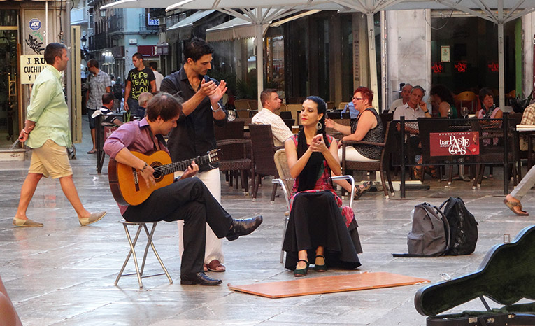 Flamenco performance in Granada, Spain