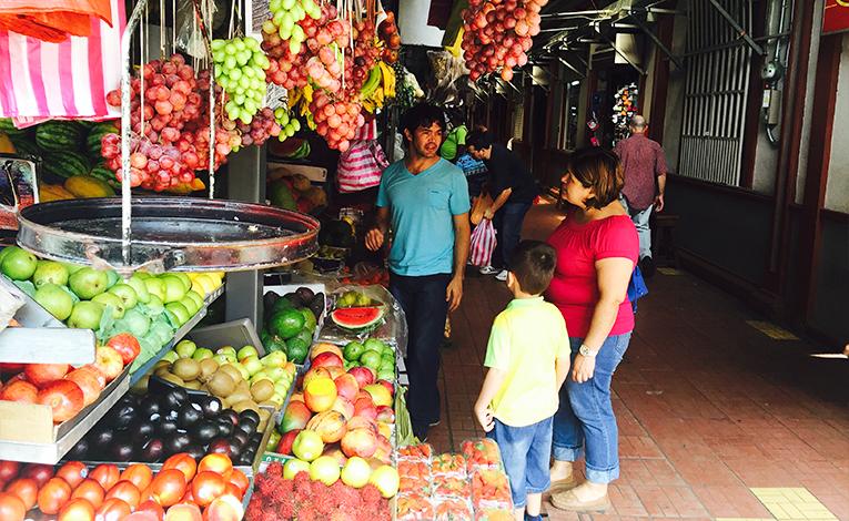 Food market in Heredia, Costa Rica