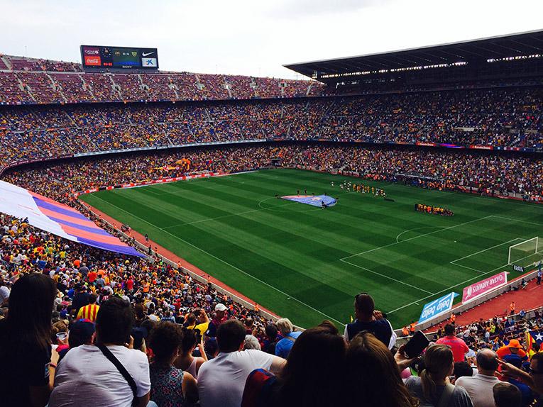 FCB game in Barcelona, Spain