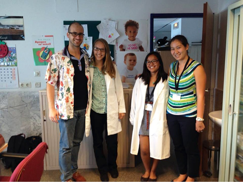 Pediatrics Medical Intern in the Canary Islands with local doctors and fellows.