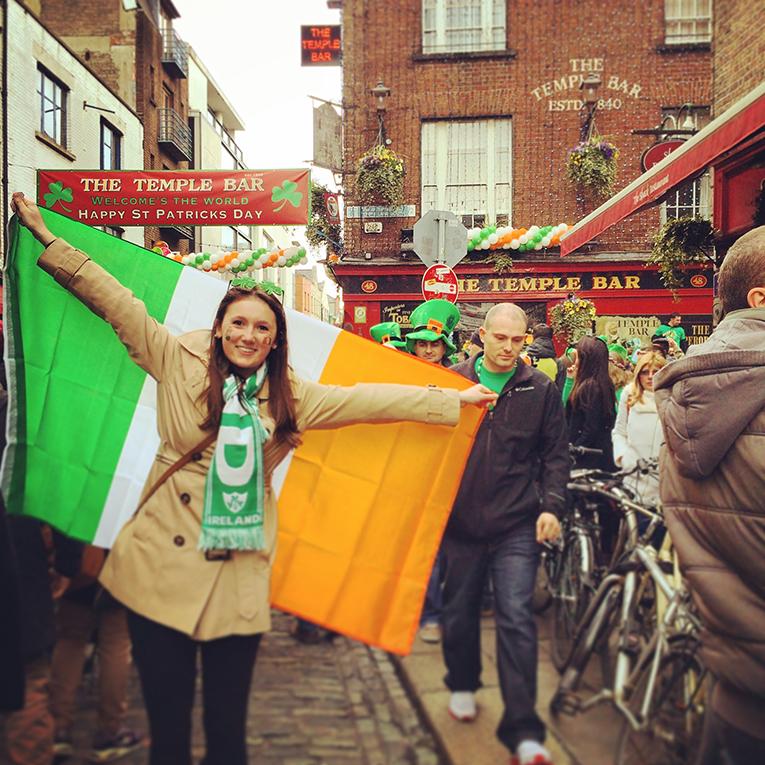 St. Patricks Day celebration in Dublin, Ireland