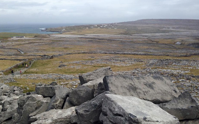 The Aran Islands in western Ireland