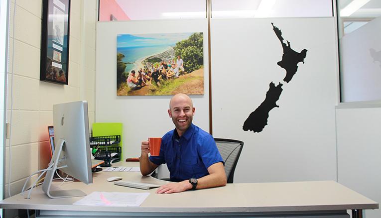 Ronald Gardebroek at the New Zealand Internships office