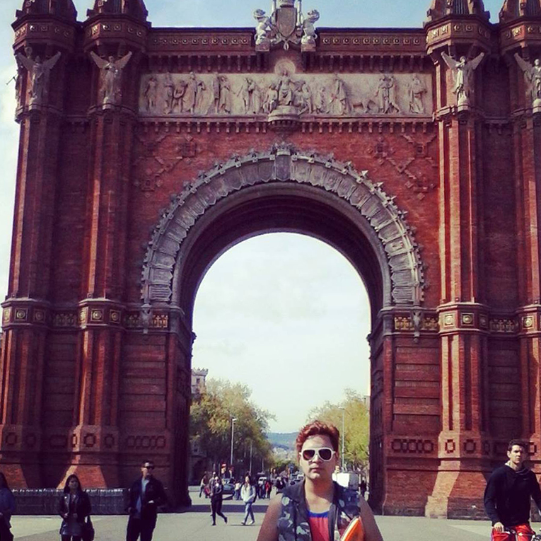 Triumphal Arc in Barcelona, Spain