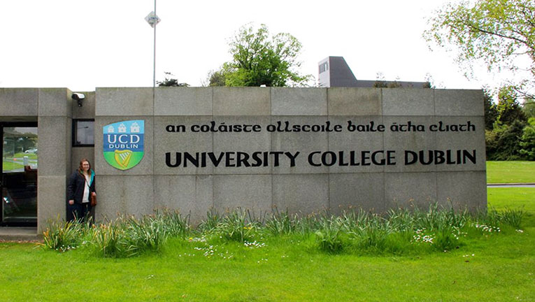 University College Dublin entrance sign in Ireland