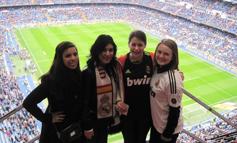 Santiago Bernabeu in Spain for Real Madrid match