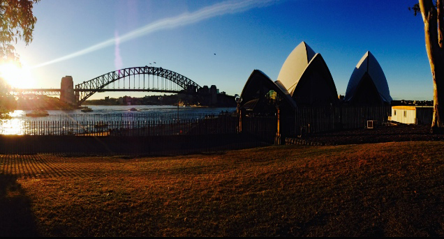 The Sydney Harbour at sunset