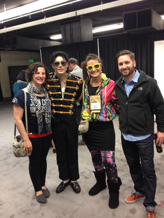 Andrew Miller of Alliance Abroad Group at NAFSA with Michael Jackson impersonator
