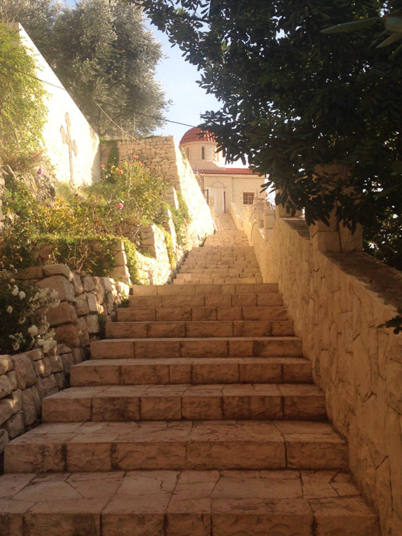 Stairs to a monastery in Beirut, Lebanon