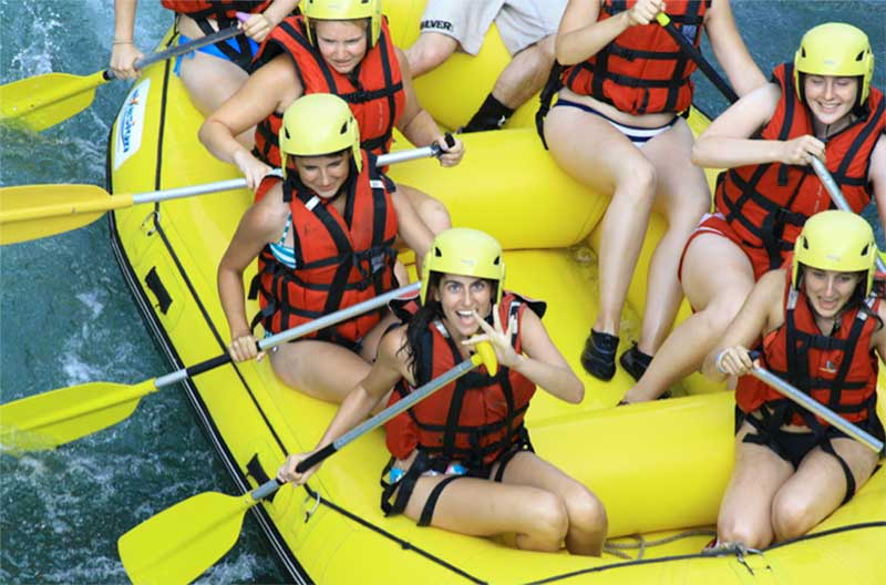Whitewater rafting in France